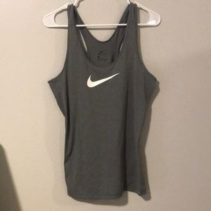 Nike Gray Workout Tank Large